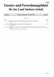 Gesetz- und Verordnungsblatt - Der Landtag von Sachsen-Anhalt