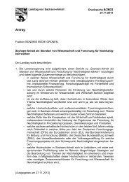 Drs. 6/2603 - Der Landtag von Sachsen-Anhalt