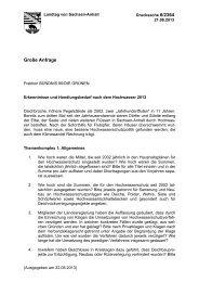 Große Anfrage - Der Landtag von Sachsen-Anhalt