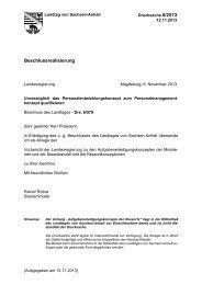 Beschlussrealisierung - Der Landtag von Sachsen-Anhalt