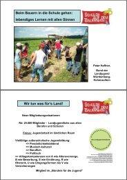 Beim Bauern in die Schule gehen - Infodienst - Landwirtschaft ...