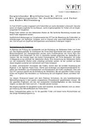 Testergebnisse des Vereins Futtermitteltest (VFT) e.V.