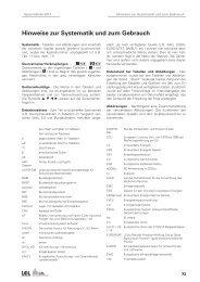 Hinweise zur Systematik und zum Gebrauch - Infodienst ...