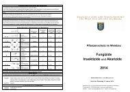 Pflanzenschutz im Weinbau 2014 - Fungizide, Insektizide, Akarizide