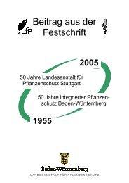 Pflanzenbeschau - Baden-Württemberg