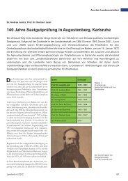 140 Jahre Saatgutprüfung in Augustenberg, Karlsruhe - Baden ...