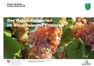 Flyer Sortengarten im Staatswingert Frümsen - landwirtschaft.sg.ch
