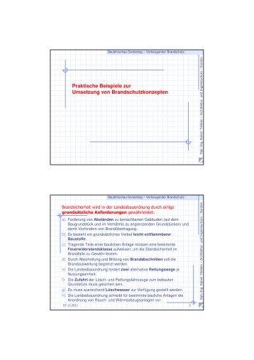 Praktische Beispiele zur Umsetzung von Brandschutzkonzepten