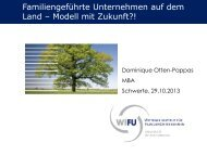 Familiengeführte Unternehmen auf dem Land - Modell mit Zukunft?!