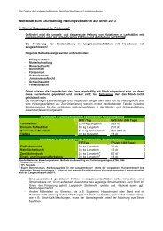 MSL - Haltungsverfahren auf Stroh - Grundantrag 2013