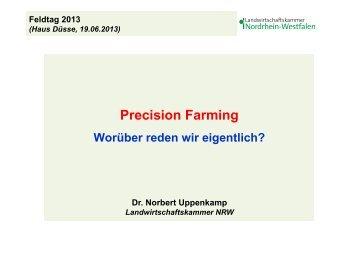 Precision Farming - worüber reden wir eigentlich?