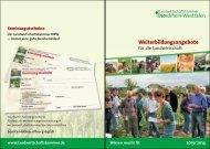 Weiterbildungskatalog - Landwirtschaftskammer Nordrhein-Westfalen