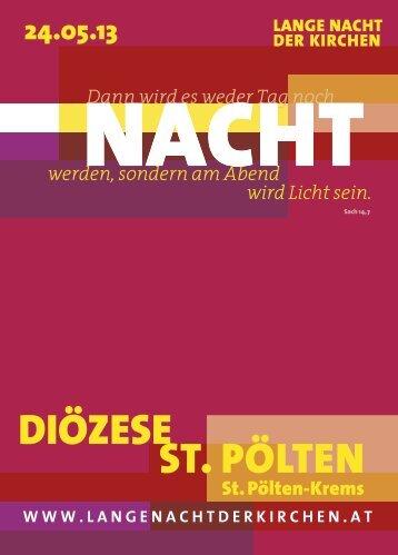 ST. PÖLTEN DIÖZESE - Lange Nacht der Kirchen