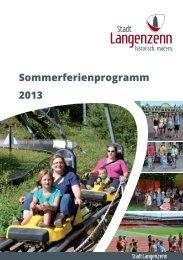 Ferienprogramm 2013 - Langenzenn