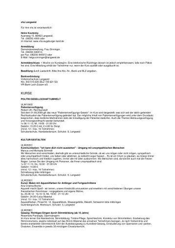 vhs Langweid_Programm Herbst 2013 - Langweid am Lech