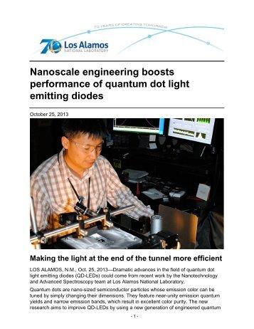 Nanoscale engineering boosts performance of quantum dot light ...