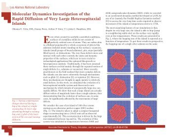 Molecular Dynamics Investigation of the Rapid Diffusion of Very ...