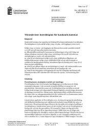 Samrådsyttrande ÖP Sundsvall - Länsstyrelserna