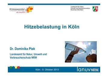 Hitzebelastung in Köln - LANUV NRW