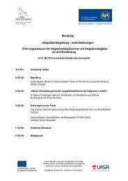 Programm - LASA Brandenburg GmbH