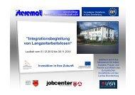 Integrationsbegleitung von Langzeitarbeitslosen - LASA ...