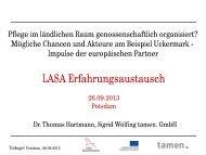 Mögliche Chancen und Akteure am Beispiel Uckermark - LASA ...