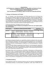 Ausschreibungstext für die Schuljahre 2012/2013 und 2013/2014