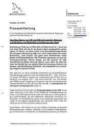 Pressemitteilung - LASA Brandenburg GmbH