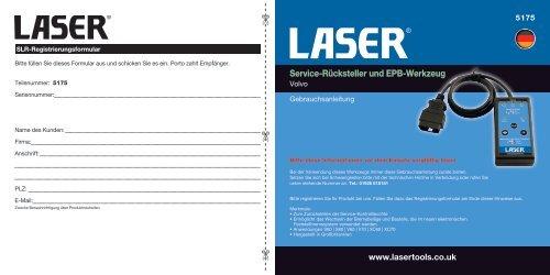 Service-Rücksteller und EPB-Werkzeug - Laser Tools