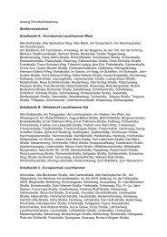 Auszug Schulbezirksatzung Straßenverzeichnis Schulbezirk A ...