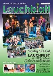 Lauchblatt • Ausgabe Juli 2013 - Home @ BÜRGERFORUM ...