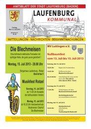 Amtsblatt Nr. 28, 12. Juli 2013 - Stadt Laufenburg