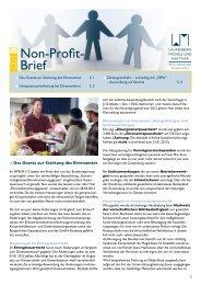 Non-Profit-Brief 02-2013 - Laufenberg Michels und Partner