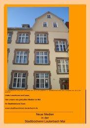 Neue Medien in der Stadtbücherei Lauterbach Mai - Stadt Lauterbach