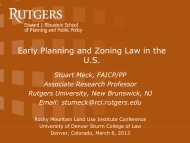 Meck, Stuart – Early Planning and Zoning Law in the U.S.
