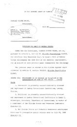 Petition For Writ of Habeas Corpus - Florida State University College ...