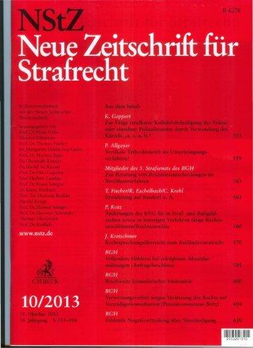 Neue Zeitschrift für Strafrecht