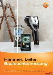 Hammer, Leiter, Baufeuchtemessung.