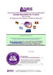 Sonder-Newsletter Nr. 41-2013 - AustroCare® PflegeNetzWerk