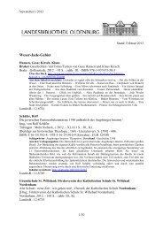 Newsletter 1/2013 - der Landesbibliothek Oldenburg