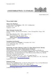 Newsletter 4/2013 - der Landesbibliothek Oldenburg