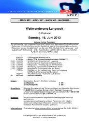 Wattwanderung Langeook Sonntag, 16. Juni 2013