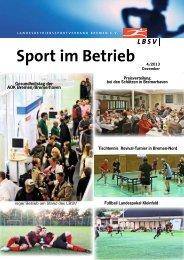 Verbandszeitschrift Sport im Betrieb - Ausgabe 2013/4