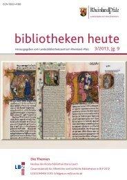 bibliotheken heute - Landesbibliothekszentrum Rheinland-Pfalz