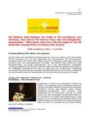 Pat Metheny, Brad Mehldau, Jon Faddis & The Luxembourg Jazz ...