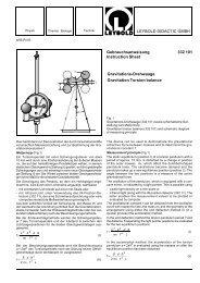 LEYBOLD DIDACTIC GMBH Gebrauchsanweisung 332 101 ...