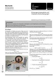 P1.5.3.4 Erzwungene harmonische und chaotische ... - LD DIDACTIC