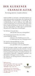 Der KlieKener CranaCh-altar - Landesamt für Denkmalpflege und ... - Seite 2