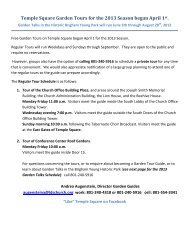 Press Release, Temple Square Garden Tours and Garden Talks in ...