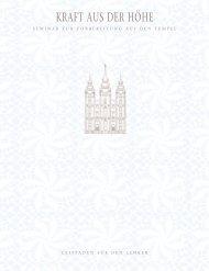 Kraft aus der Höhe: Seminar zur Vorbereitung auf den Tempel
